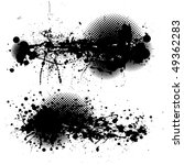 two black ink splats with... | Shutterstock .eps vector #49362283