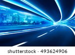 abstract blurred speed motion... | Shutterstock . vector #493624906
