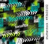 abstract seamless grunge... | Shutterstock .eps vector #493633102