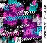 abstract seamless grunge... | Shutterstock .eps vector #493633135