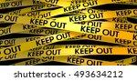 3d rendering yellow warning... | Shutterstock . vector #493634212