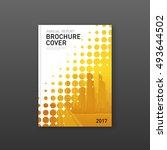 brochure cover design template... | Shutterstock .eps vector #493644502