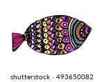 illustration of multicolored... | Shutterstock .eps vector #493650082