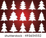 christmas tree vector icon set... | Shutterstock .eps vector #493654552