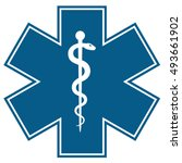 medical symbol of the emergency ... | Shutterstock . vector #493661902