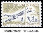 republique du dahomey circa...   Shutterstock . vector #493666336
