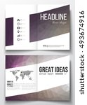 set of business templates for... | Shutterstock .eps vector #493674916