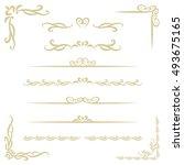 golden decorative borders  ... | Shutterstock .eps vector #493675165