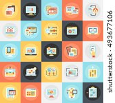 flat conceptual icons pack of...