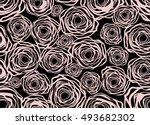 beautiful hand drawn pattern...   Shutterstock .eps vector #493682302