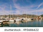 view of  porto montenegro in... | Shutterstock . vector #493686622