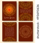 ornate vintage pages with... | Shutterstock .eps vector #493693636