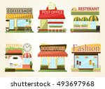 set of vector flat design... | Shutterstock .eps vector #493697968