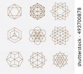 sacred geometry. sacred... | Shutterstock .eps vector #493700878