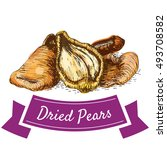 dried pears colorful... | Shutterstock .eps vector #493708582