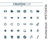 universal multimedia flat icons ...