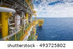 panorama of offshore oil and... | Shutterstock . vector #493725802
