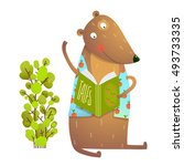 baby teddy bear character... | Shutterstock .eps vector #493733335