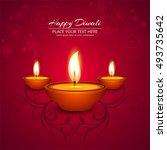 abstarct happy diwali background | Shutterstock .eps vector #493735642