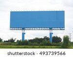 billboards space blue outdoors... | Shutterstock . vector #493739566