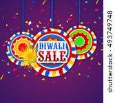 happy diwali festival sale... | Shutterstock .eps vector #493749748