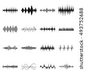 sound wave icons set in simple... | Shutterstock . vector #493752688