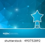 abstract creative concept... | Shutterstock .eps vector #493752892