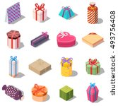 large set of different present... | Shutterstock .eps vector #493756408