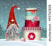 nisser in norway and denmark ... | Shutterstock .eps vector #493762828