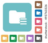 flat folder options icons on... | Shutterstock .eps vector #493763326
