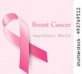 breast cancer awareness month... | Shutterstock .eps vector #493769512