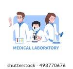 medical laboratory vector... | Shutterstock .eps vector #493770676