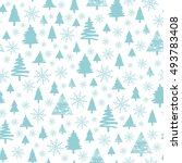 holiday pattern  christmas... | Shutterstock .eps vector #493783408