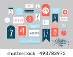 red  blue and white colored... | Shutterstock .eps vector #493783972