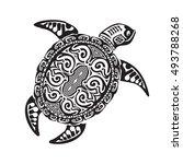 Turtle Tattoo In Maori Style....
