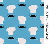 chef. seamless wallpaper | Shutterstock .eps vector #493792462