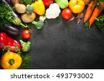 food background. fresh farmer... | Shutterstock . vector #493793002