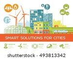 smart city vector illustration  ... | Shutterstock .eps vector #493813342