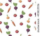 vegetable seamless pattern ... | Shutterstock .eps vector #493815556