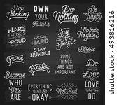 hand drawn lettering slogans.... | Shutterstock .eps vector #493816216