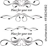 two original decorative frames... | Shutterstock .eps vector #493824082
