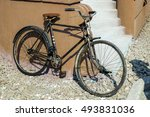 old rustic bicycle | Shutterstock . vector #493831036