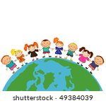 kids around the world. | Shutterstock .eps vector #49384039