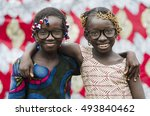 two beautiful african... | Shutterstock . vector #493840462