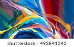 abstract acrylic texture. oil ... | Shutterstock . vector #493841242
