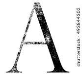 vector grunge alphabet  a | Shutterstock .eps vector #493844302