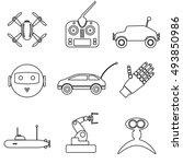 hi tech modern technology toys... | Shutterstock .eps vector #493850986