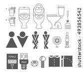 wc logo. illustrations denoting ... | Shutterstock .eps vector #493856542