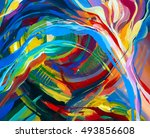 abstract acrylic texture. oil ... | Shutterstock . vector #493856608