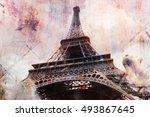 Abstract Digital Art Of Eiffel...